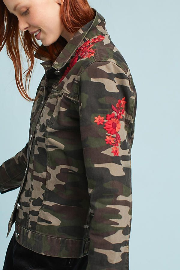 1dd957a70ff7b I don't like camo I love how they mixed red embroidered flowers with it.  Slide View: 2: Embroidered Camo Jacket