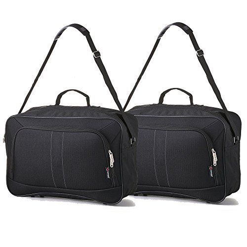 2 PCS 16inch Carry On Hand Luggage Flight Duffle Personal