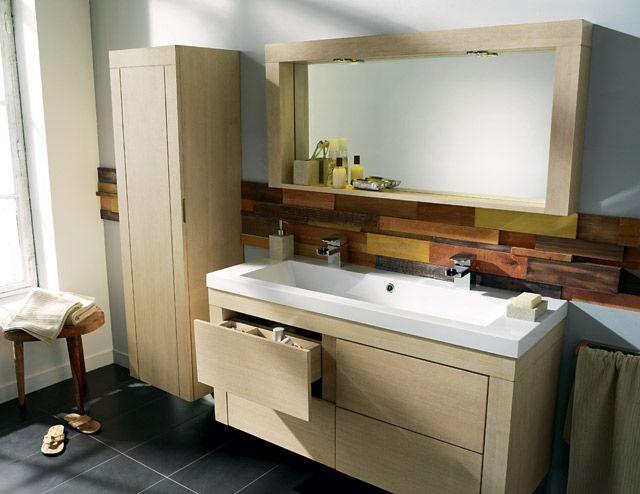 meuble salle de bain une vasque deux robinets