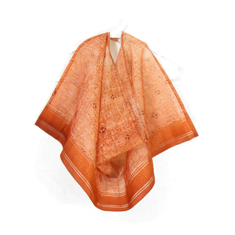 Rust Silk Scarf Burnt Orange Sari Silk Bib Infinity Scarf Etsy Etsy Scarves Light Scarves Sari Silk
