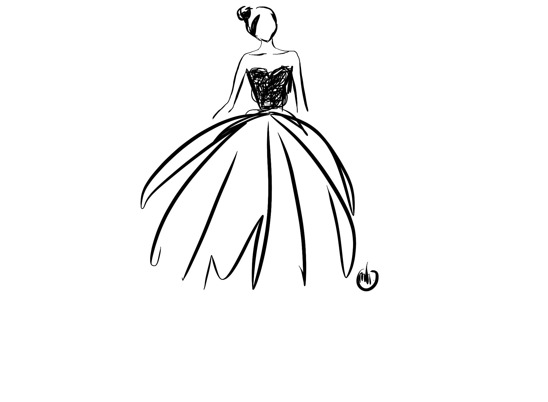 Fashion Design Sketches Black And White Black And White Sketches Black And White Drawing Black And White Painting