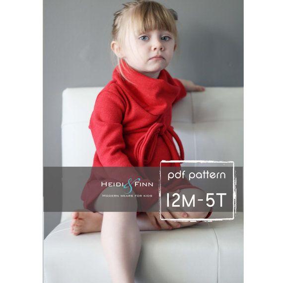 Cowl Neck Pullover Kleid und Pullover Muster PDF von heidiandfinn