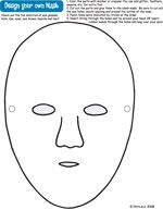 Make your own Purim mask by decorating the blank template with some ...