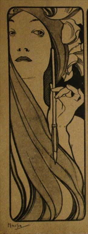 Alphonse #Mucha (Czech, 1860-1939). The Artist. #czech #painter