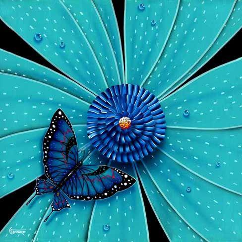 green flower michael godard art