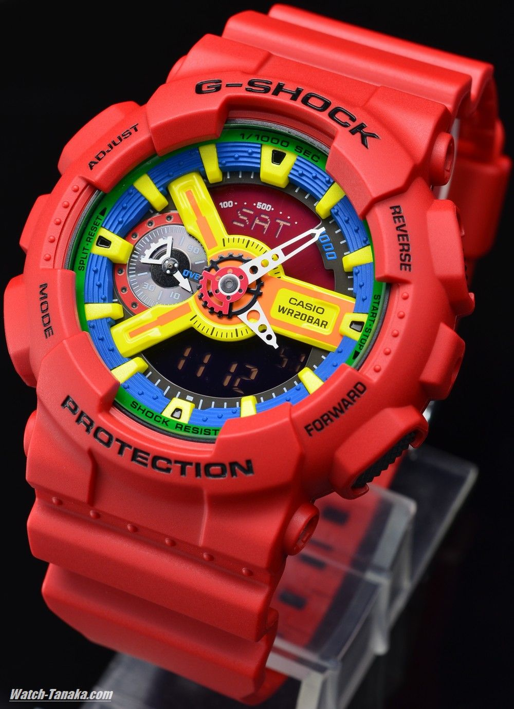 178d229c8a55 Casio g shock GA 110 FC red