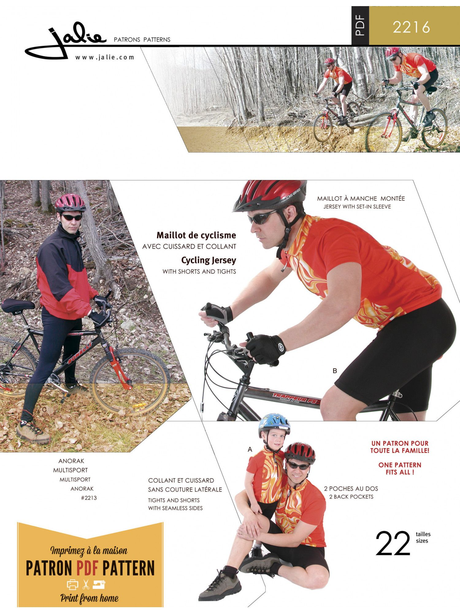 Cycling Jersey, Shorts and Tights | Paid Patterns | Pinterest