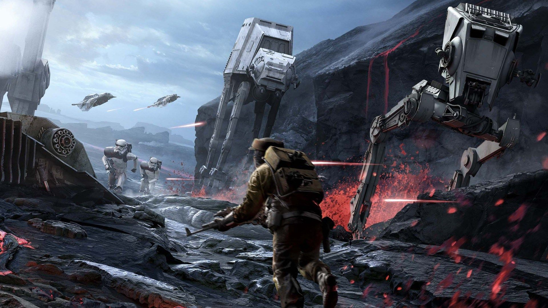 Star Wars Battlefront 2015 Themed Summer Nail 1920x1080 Star Wars Wallpaper Star Wars Awesome Star Wars Poster