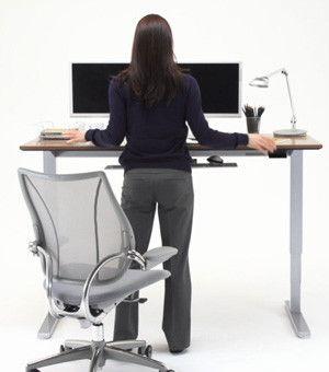 Humanscale Float Sit Stand Desk Sit Stand Desk Desk Ergonomics Design