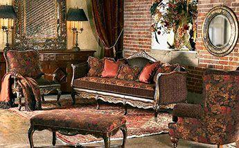 Lavish Old World Style Sofa Chairs