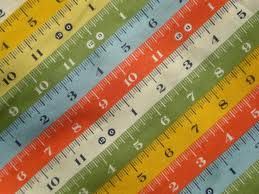Tailor Made Sewing Measuring Tape Fabric 100/% Quilters Cotton