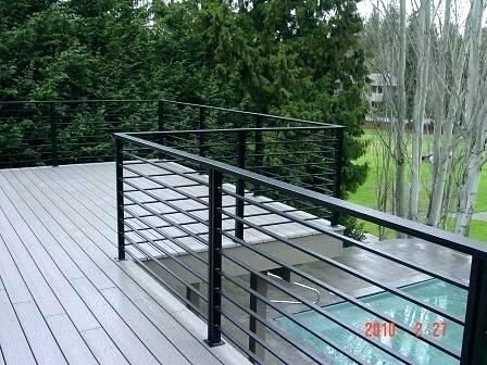 Best Horizontal Metal Deck Railing Wonderful Home Ideas 2 640 x 480