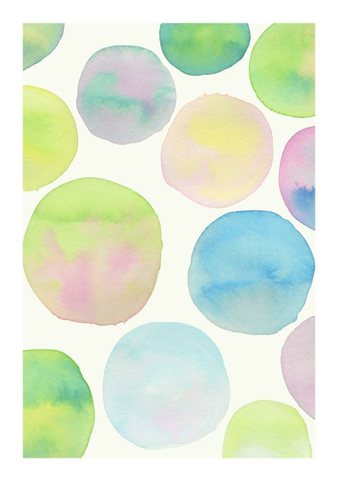 watercolor polka dots-would be lovely for a babies room