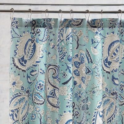 Siena Blue Paisley Shower Curtain | Siena, Towels and Bath