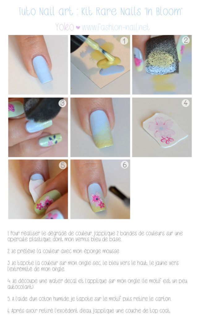 Simple nail art with Rare Nails In Bloom nail art kit | Beauté ...