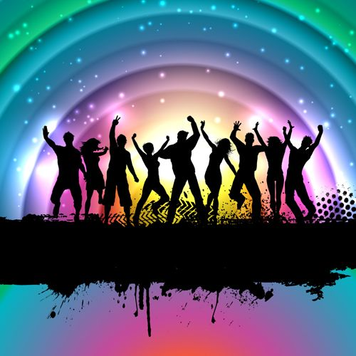 Music Party Backgrounds vector 03 | Festa neon | Music party