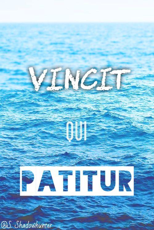 Vincit Qui Patitur — He conquers who endures Vosch/Razor