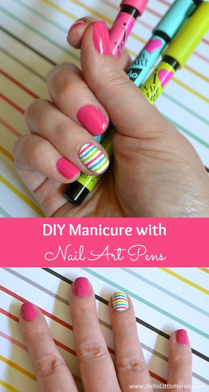 Diy Manicure With Nail Art Pens Nails Pinterest Nails Nail