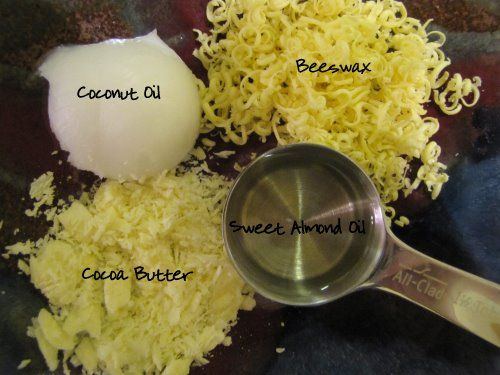 Homemade Lip Balm Ingredients 2 tablespoons beeswax, grated (or use pastilles) 1 tablespoon coconut oil 1 tablespoon sweet almond oil 1 tablespoon cocoa ...