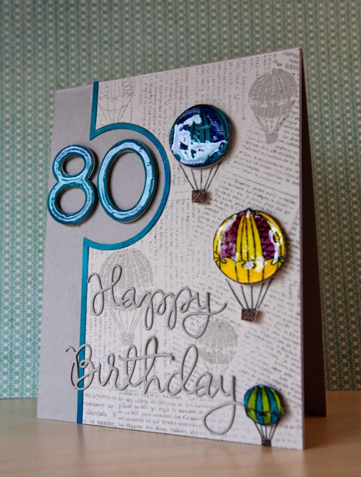 My Life In Paper 80th Birthday 80th Birthday Cards Birthday Cards Birthday Cards For Men