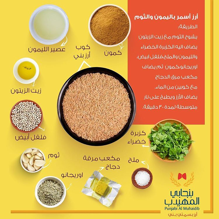 أرز بنجابي المهيدب البني On Instagram يمكن للأرز أن يكون وجبة صحية متكاملة ولذيذة أيضا فايدتها بقشرتها Lole Social Media Lol