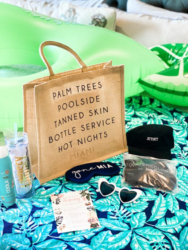 Chic Bachelorette Party Favors That Everyone Will Love Jetsetchristina Bachelorette Party Planning Tropical Bachelorette Miami Bachelorette Party
