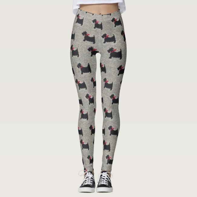 Knit Black Terrier Leggings #cairn #scottie #norwich #havanese #terrier - Do you have ones like thes...