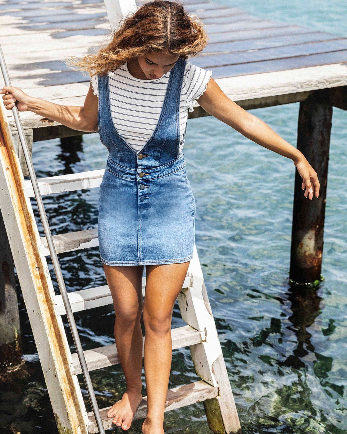 Warmin Up Indigo Mini Dress Jd45vbwa Denim Overall Dress Denim Mini Dress Summer Dress Outfits [ 1396 x 1117 Pixel ]