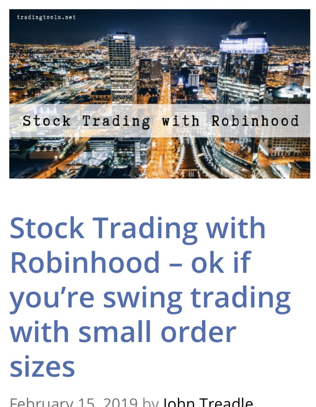 Stock Trading With Robinhood Ok If You Re Swing Trading With