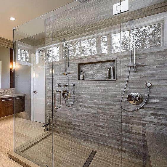 Master Bath Double Shower Bathrooms Remodel Bathroom Design House Bathroom