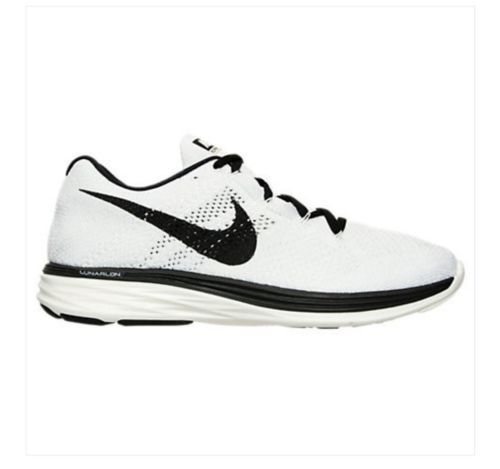 on sale 1f213 b3918 NEW Men s Nike Flyknit Lunar 3 Running Shoes 698181-101 White Sail Black SZ  11  Clothing, Shoes   Accessories Men s Shoes Athletic   nike  jordan  shoes  ...