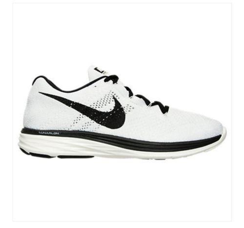 Mens Nike Flyknit Lunar 3 Sail/Black Running Shoe