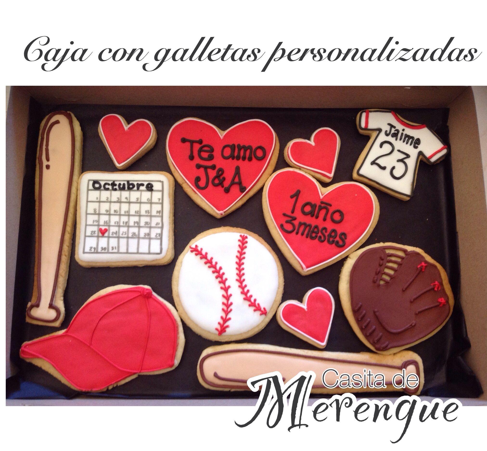 Caja Con Galletas Decoradas Tema Baseball Caja Con