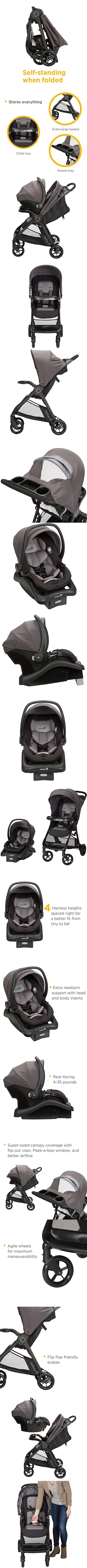 Safety 1st Smooth Ride Travel System with Board 35 LT Infant Car Seat Monument 2
