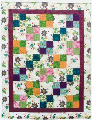 Yippee...Daisies!  A pillow quilt - folds into a pillow