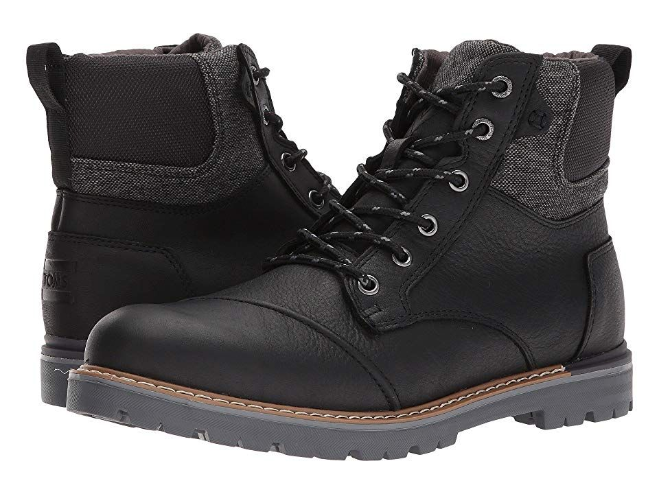 TOMS Ashland Waterproof Boot Black PullUp Leather Mens Laceup Boots With every pair of shoes you purchase TOMS will give a new pair of shoes to a child in need One for On...