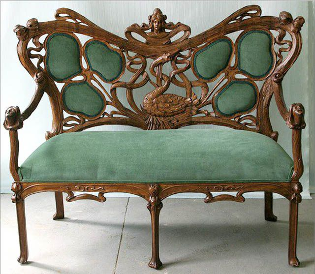 French 19th Carved Century Art Nouveau Settee. | Glam Cave Ideas ...