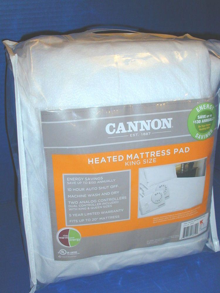 New Cannon Automatic Heated Mattress Pad King Size Biddeford Heated Mattress Pad Mattress Pad Mattress