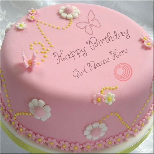 Write Your Name On Happy Birthday Cakes For Girls Free Create