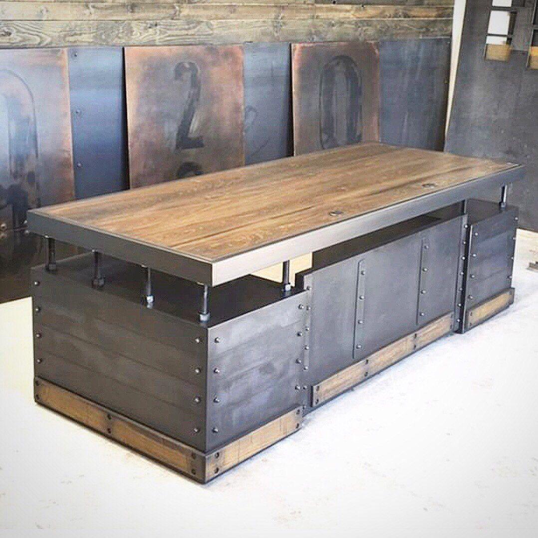 Eldritch executive desk vintage industrial furniture