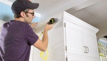 How To Add Crown Molding To The Top Of Your Cabinets - Crown moulding kitchen cabinets, Young house love, Crown molding kitchen, Kitchen cabinet crown molding, Cabinets with crown molding, Diy crown molding - How To Add Crown Molding To The Top Of Your Cabinets   Young House Love