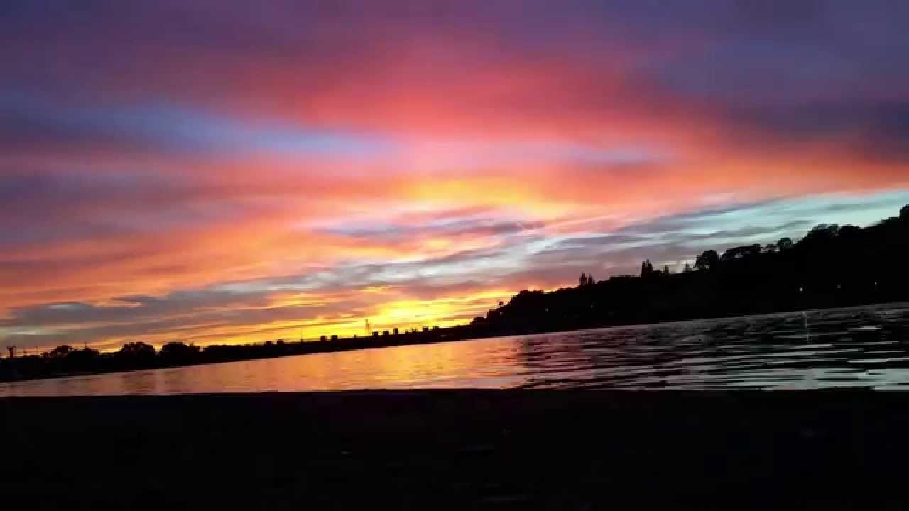 Lake tahoe sunset travel channel pinterest - An Amazing Sunset Near Sacramento Aquatic Center At Lake Natoma Timelapse
