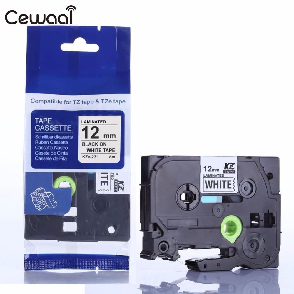 Cewaal TZe 231 Label Schrijfmachine 8 M 12mm Label Tape P