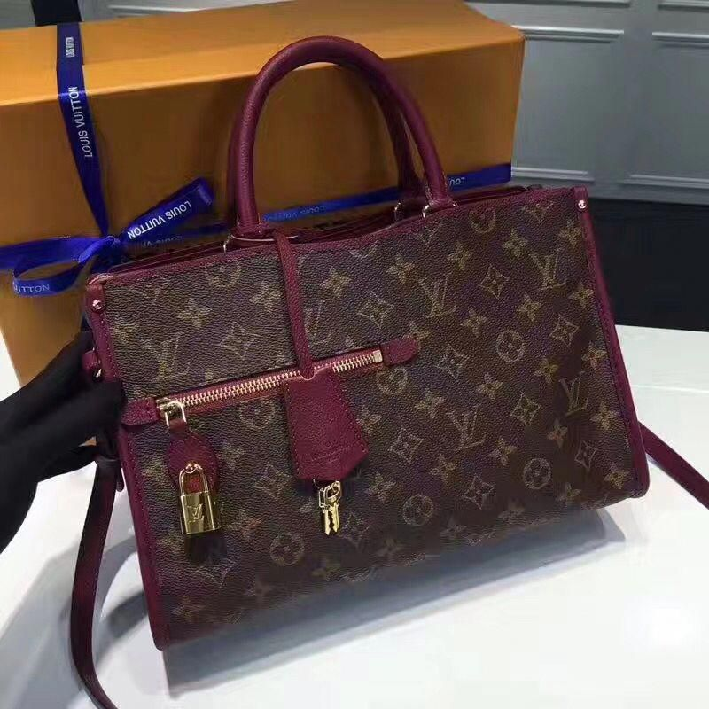 e1174ebf8b79 Louis Vuitton Popincourt PM Monogram   Leather Handbag M43462 Raisin 2017   Louisvuittonhandbags