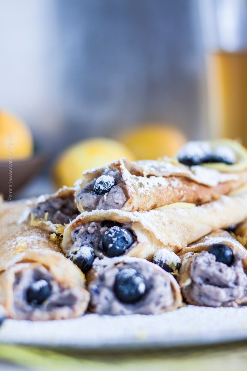 Beer Crepes With Hefeweizen Ricotta Blueberries Amp Lemon