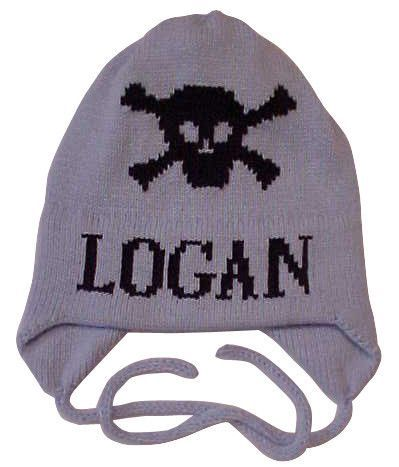0ec92324da Skull   Crossbones Personalized Knit Hat