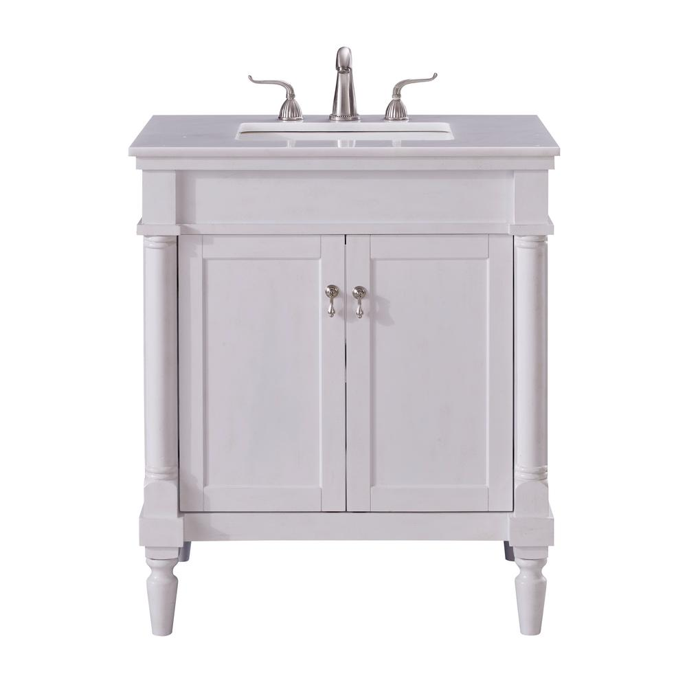 Wagner 30 In Single Bathroom Vanity With 1 Shelf 2 Doors Marble