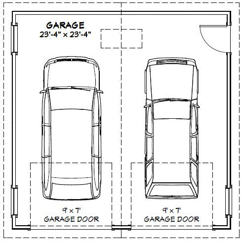 2 Car Garage Door Width Garage Dimensions Garage Door Sizes Car Garage