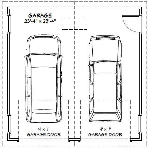 2 Car Garage Door Width Garage Dimensions Garage Door Sizes