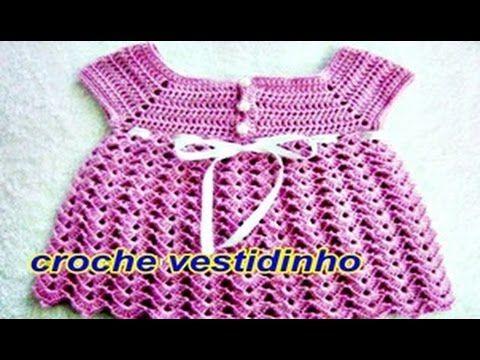 Vestido bebe tejido a crochet facil / Baby dress crochet easy ...
